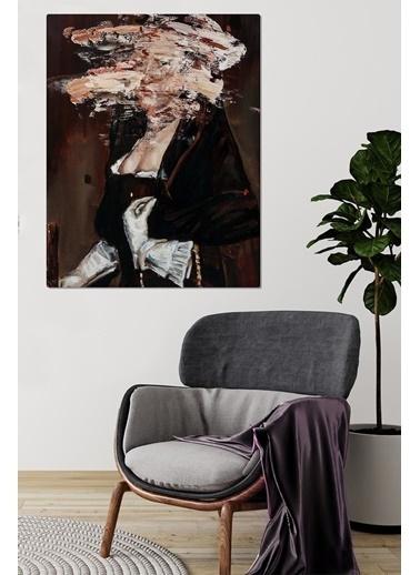 MarkaEv Canvas Soyut Yağlı Boya Görünümlü Portre Tablo 0068 Renkli